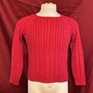 L.L.Bean cable knit sweater.